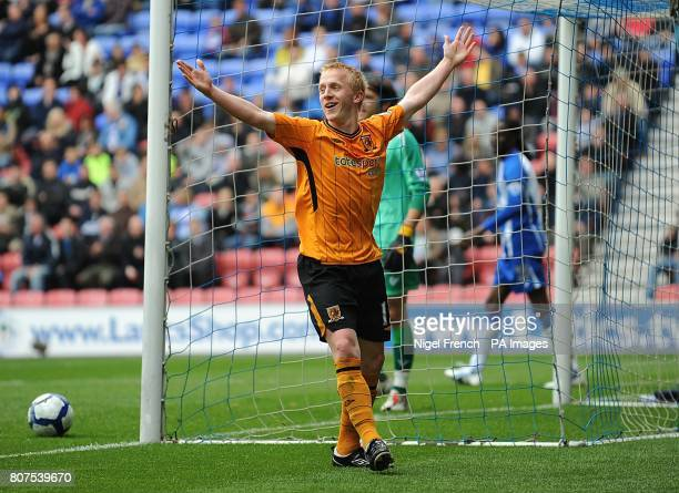 Hull City's Mark Cullen celebrates after scoring his sides second goal