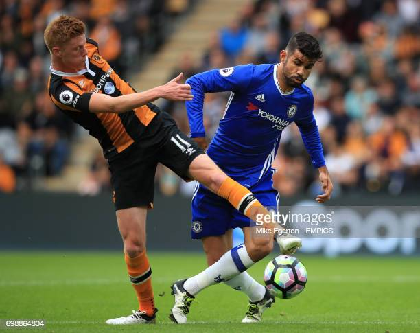 Hull City's Sam Clucas and Chelsea's Diego Costa