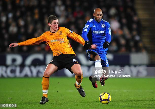 Hull City's Tom Cairney and Chelsea's Nicolas Anelka battle for the ball