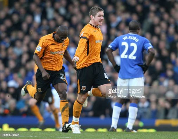 Hull City's Tom Cairney celebrates scoring their first goal