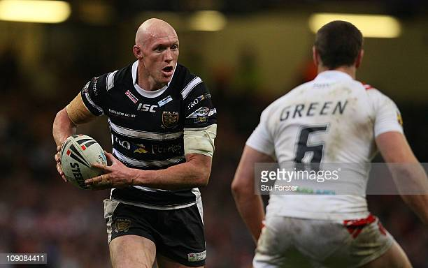 Hull FC player Craig Fitzgibbon in action during the Engage Super League Match between Hull Kingston Rovers and Hull FC at Millennium Stadium on...