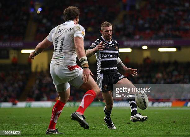 Hull FC player Sean Long in action during the Engage Super League Match between Hull Kingston Rovers and Hull FC at Millennium Stadium on February 13...