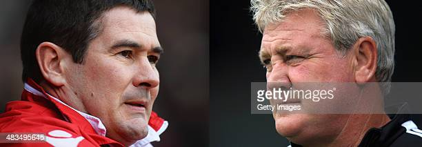 IMAGES Image Numbers 465157777 and 174538872 In this composite image a comparison has been made between Nigel Clough the Manager of Sheffield United...