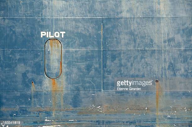 Hull of tanker ship