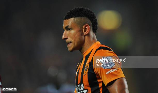 Hull player Jake Livermore looks on during the Barclays Premier League match between Hull City and West Ham United at KC Stadium on September 15 2014...