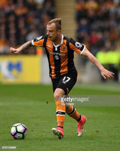 Hull player Kamil Grosicki in action during the Premier League match between Hull City and Sunderland at KCOM Stadium on May 6 2017 in Hull England