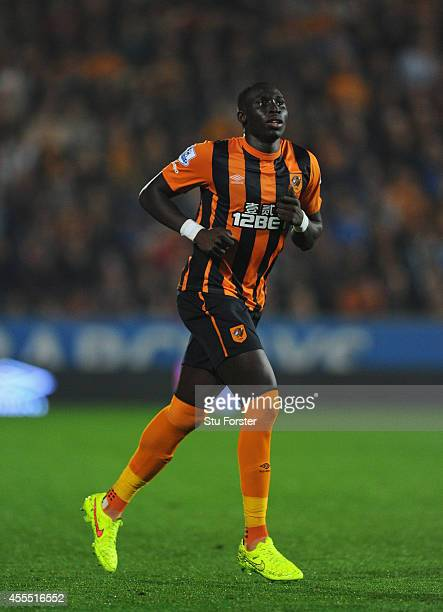 Hull player Mohamed Diame in action during the Barclays Premier League match between Hull City and West Ham United at KC Stadium on September 15 2014...