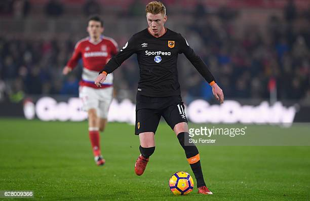 Hull player Sam Clucas in action during the Premier League match between Middlesbrough and Hull City at Riverside Stadium on December 5 2016 in...
