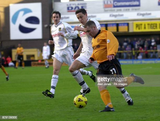 Hull's David Beresford takes the ball past Oxford's Jon Richardson during their Division 3 match at Boothferry Park THIS PICTURE CAN ONLY BE USED...