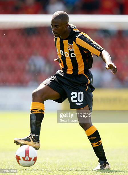 Hull's George Boatang in action during the pre season friendly match between Crewe Alexandra and Hull City on July 26 2008 in Crewe England