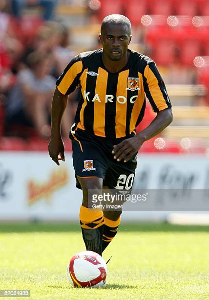 Hull's George Boateng running with the ball during the pre season friendly match between Crewe Alexandra and Hull City on July 26 2008 in Crewe...
