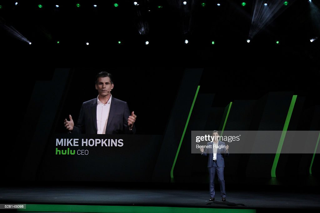 Hulu CEO Mike Hopkins speaks on stage during the 2016 Hulu Upftont on May 04, 2016 in New York, New York.