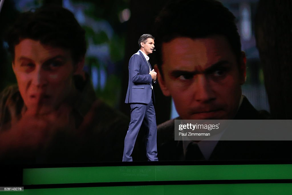 Hulu CEO Mike Hopkins speaks onstage at the 2016 Hulu Upftont on May 04, 2016 in New York, New York.