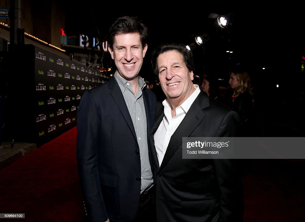 Hulu Senior VP and Head of Content Craig Erwich and producer <a gi-track='captionPersonalityLinkClicked' href=/galleries/search?phrase=Peter+Roth&family=editorial&specificpeople=239477 ng-click='$event.stopPropagation()'>Peter Roth</a> attend the Hulu Original '11.22.63' premiere at the Regency Bruin Theatre on February 11, 2016 in Los Angeles, California.