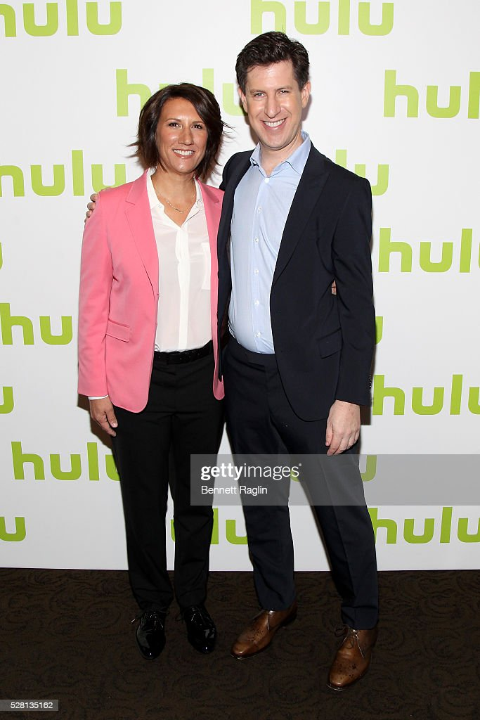 Hulu SVP, Head of Marketing Jenny Wall and Hulu SVP Head of Content Craig Erwich attend the 2016 Hulu Upftont on May 04, 2016 in New York, New York.