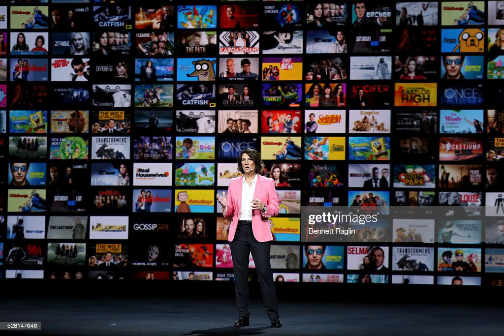 Hulu SVP Head of Marketing Jenny Wall speaks onstage at the 2016 Hulu Upftont - Presentation on May 04, 2016 in New York, New York.
