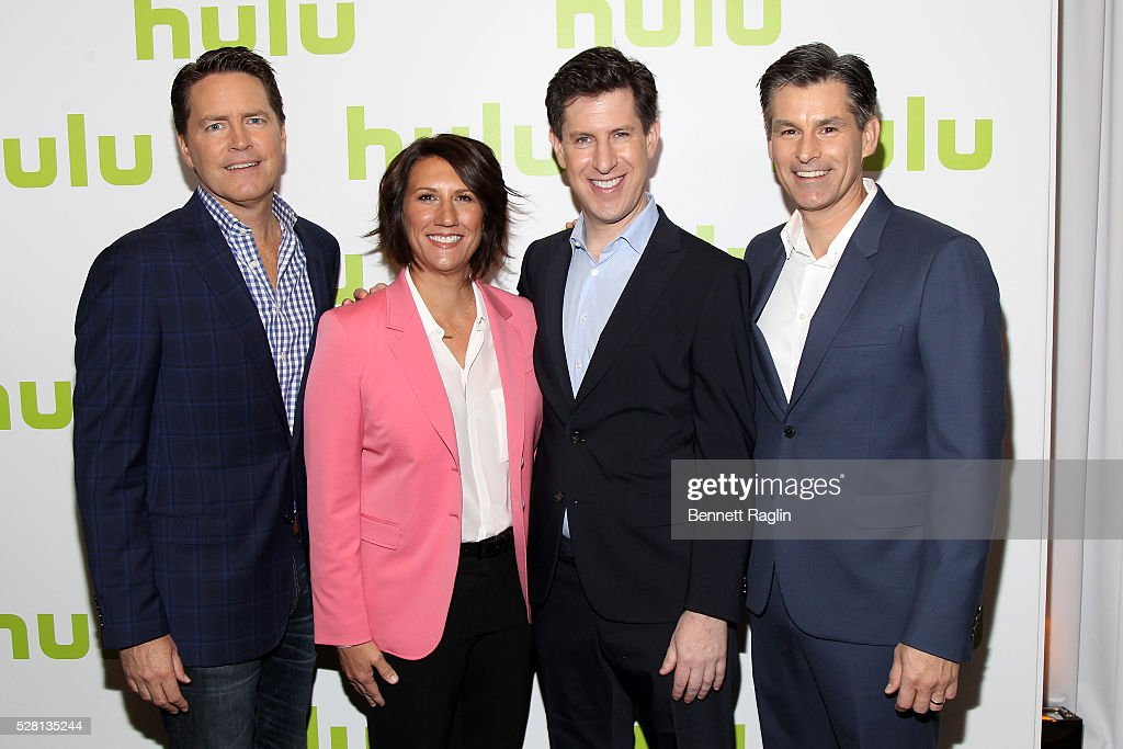Hulu SVP Sales Peter Naylor, Hulu SVP, Head of Marketing Jenny Wall, Hulu SVP Head of Content Craig Erwich and Hulu CEO Mike Hopkins attend the 2016 Hulu Upftont on May 04, 2016 in New York, New York.
