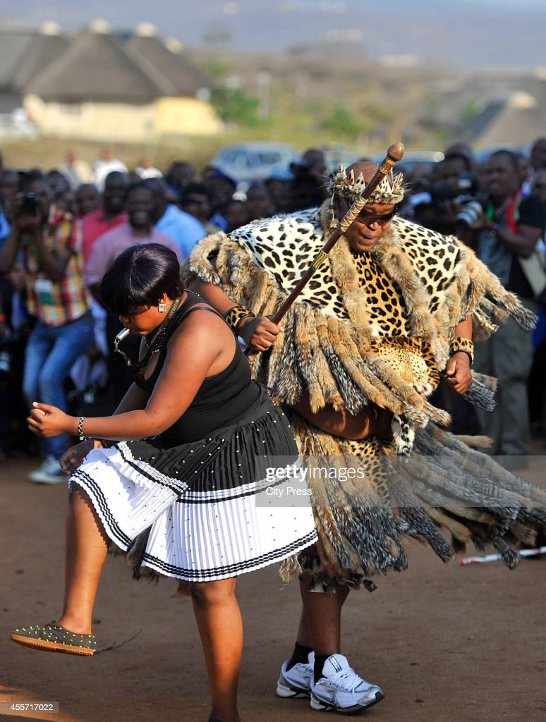 hulubuse Zuma during his traditional wedding on September 14 2014 in Nkandla South Africa President Jacob Zuma was among 5000 guests at the wedding...