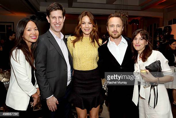 Hulu's The Path CoStar Michelle Lee Hulu's Head of Content Craig Erwich Hulu's The Path CoStars Michelle Monaghan Aaron Paul and Jessica Goldberg...