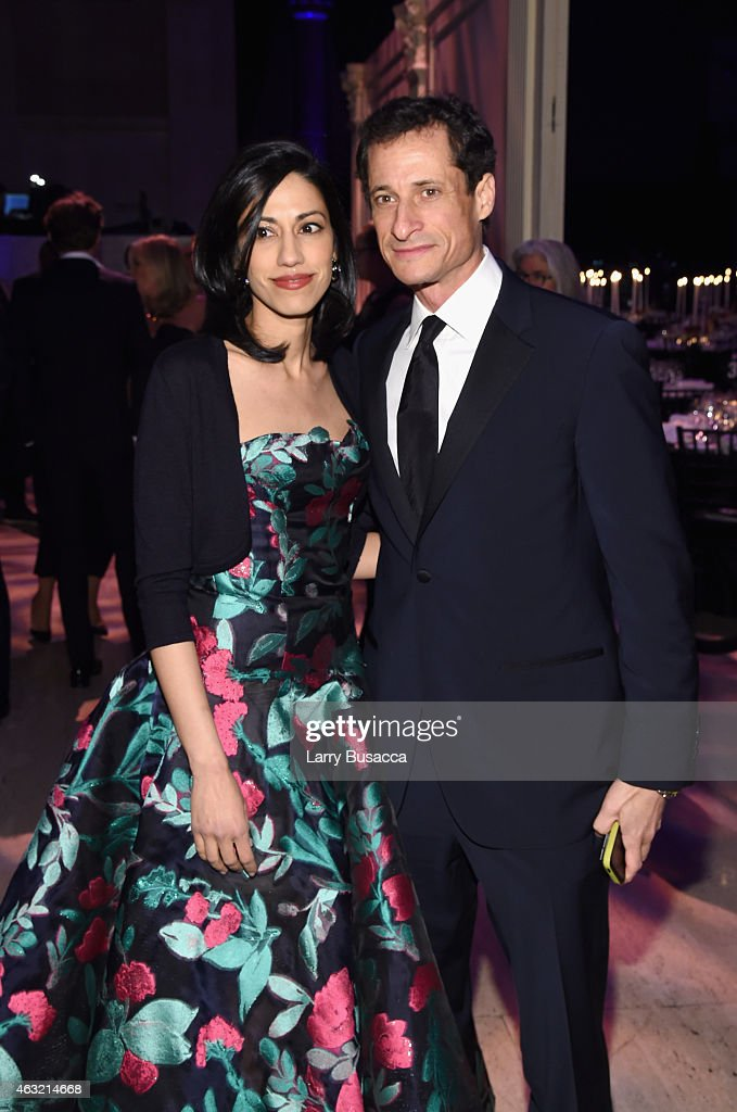 <a gi-track='captionPersonalityLinkClicked' href=/galleries/search?phrase=Huma+Abedin&family=editorial&specificpeople=2807937 ng-click='$event.stopPropagation()'>Huma Abedin</a> and <a gi-track='captionPersonalityLinkClicked' href=/galleries/search?phrase=Anthony+Weiner&family=editorial&specificpeople=821661 ng-click='$event.stopPropagation()'>Anthony Weiner</a> attend the 2015 amfAR New York Gala at Cipriani Wall Street on February 11, 2015 in New York City.