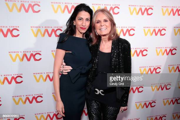 Huma Abedin and Gloria Steinem attend the Women's Media Center 2017 Women's Media Awards at Capitale on October 26 2017 in New York City