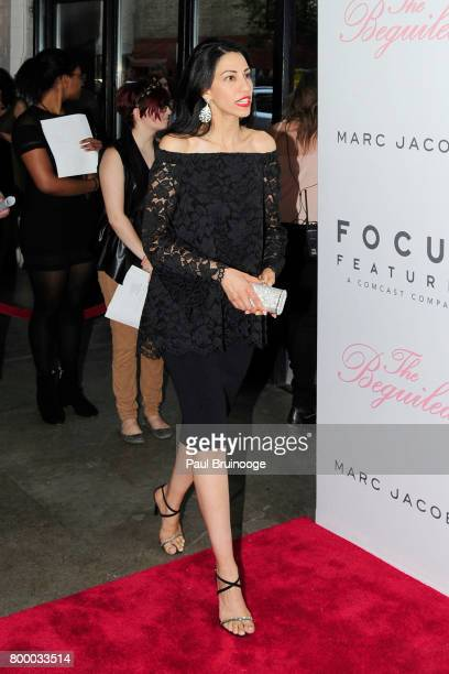 Huma Abedin attends 'The Beguiled' New York Premiere Arrivals at Metrograph on June 22 2017 in New York City