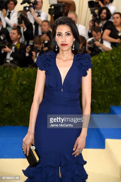 Huma Abedin attends the 'Rei Kawakubo/Comme des Garcons Art Of The InBetween' Costume Institute Gala at Metropolitan Museum of Art on May 1 2017 in...