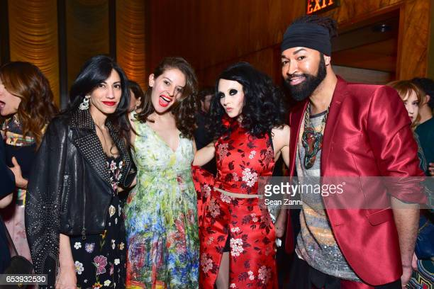 Huma Abedin Guest Stacey Bendet Eisner and Ty Hunter attend Art Production Fund's Bright Lights Big City Gala at Seagram Building on March 13 2017 in...