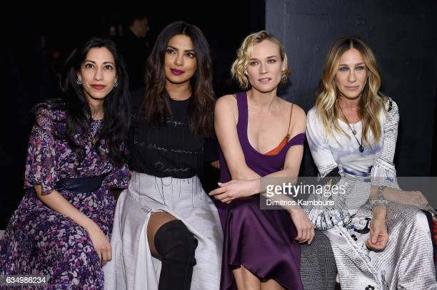 Huma Abedin Priyanka Chopra Diane Kruger and Sarah Jessica Parker attend the Prabal Gurung collection during New York Fashion Week The Shows at...