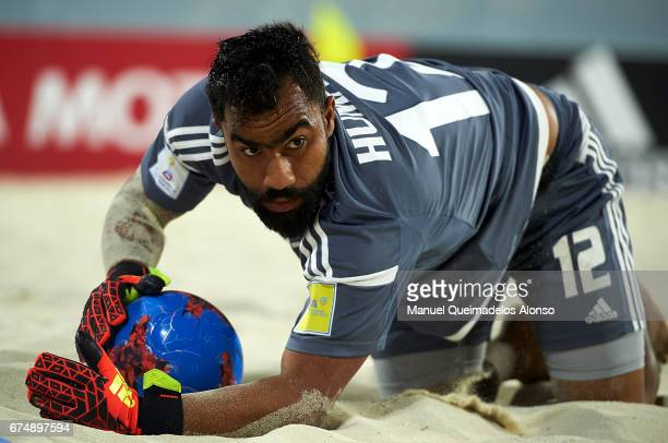 Humaid Jamal of United Arab Emirates in action during the FIFA Beach Soccer World Cup Bahamas 2017 group C match between United Arab Emirates and...