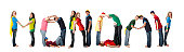 Human Alphabet Calendar: Diverse Teenager Font Colorful Letters Monday