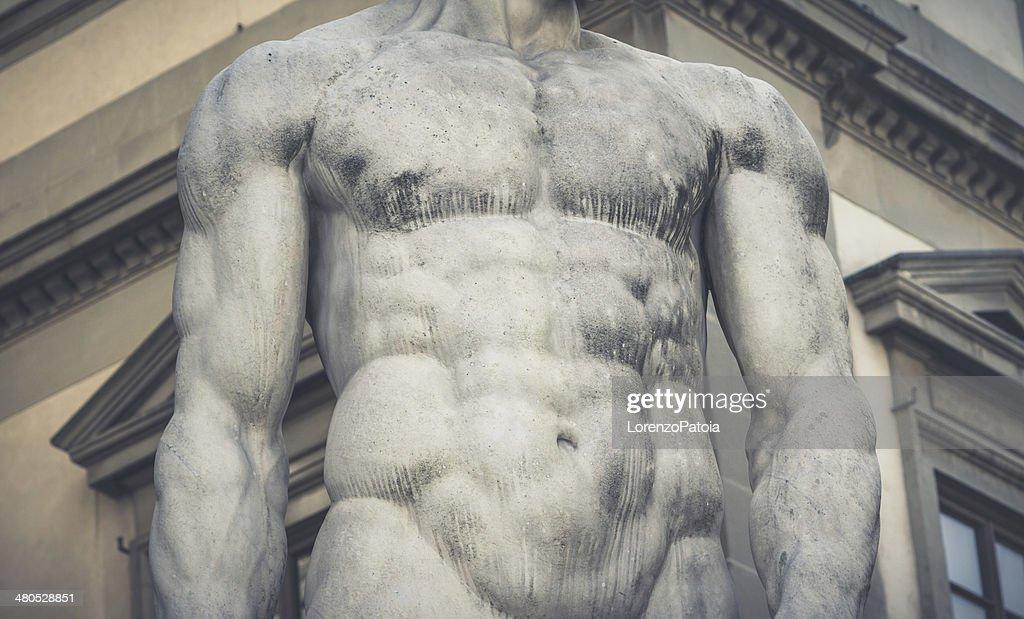Corpo umano, antica Statua italiano : Foto stock