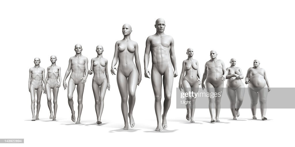 Human body diversity : Stock Photo