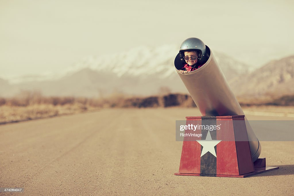 Human Cannonball : Stock Photo