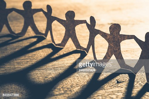 Human Chain Paper : Stock Photo