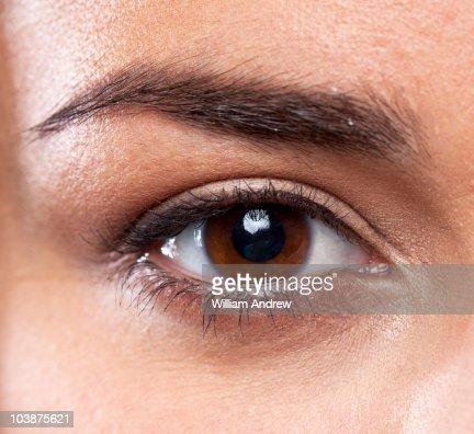 Human eye, close up : Stock Photo