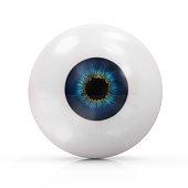 Human Eye isolated on white background