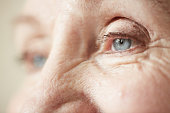 Eyes and upper part of nose of elderly woman