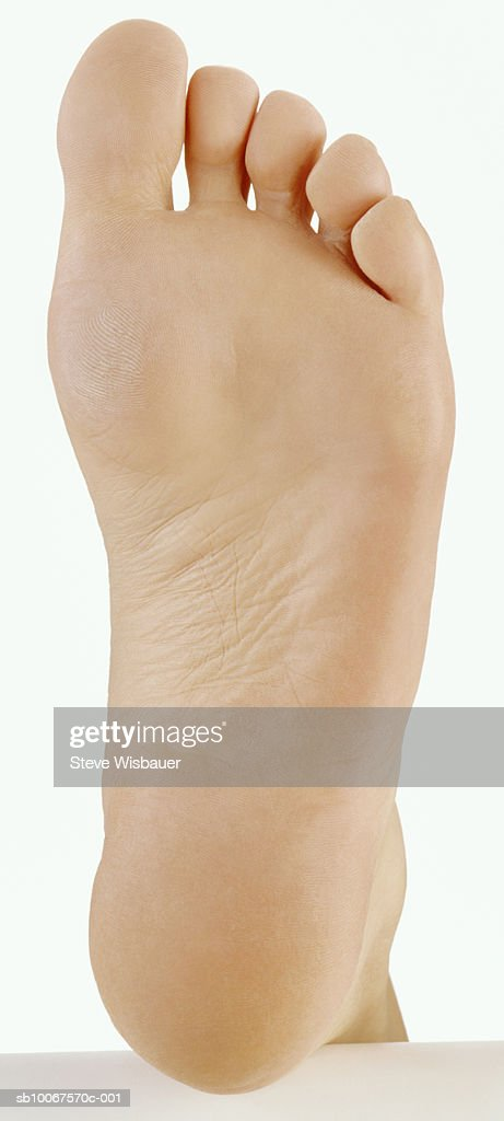 Human foot, view from below : Stock Photo