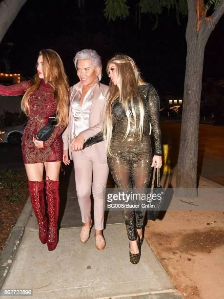'Human Ken Doll' Rodrigo Alves and Marcela Iglesias are seen on October 17 2017 in Los Angeles California