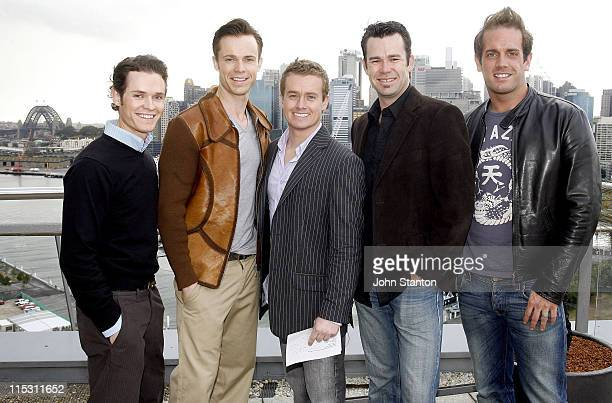 Human Nature and Grant Denyer during TV Turns 50 Photo Call in Sydney at Star City in Sydney NSW Australia