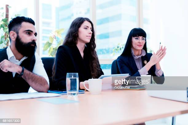 Human Resource team appraising an employee