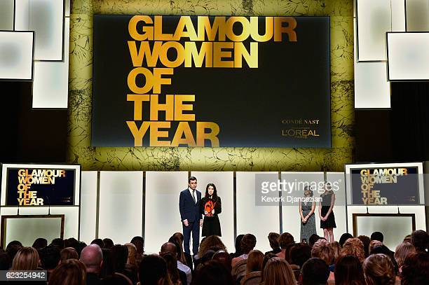 Human rights activist Nadia Murad speaks onstage during Glamour Women Of The Year 2016 at NeueHouse Hollywood on November 14 2016 in Los Angeles...