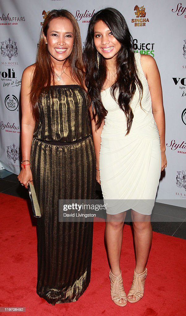 Human rights activist Somaly Mam (L) and daughter Adana Mam attend the Somaly Mam Foundation's Project Futures Global Campaign launch event at SLS Hotel on July 23, 2011 in Beverly Hills, California.