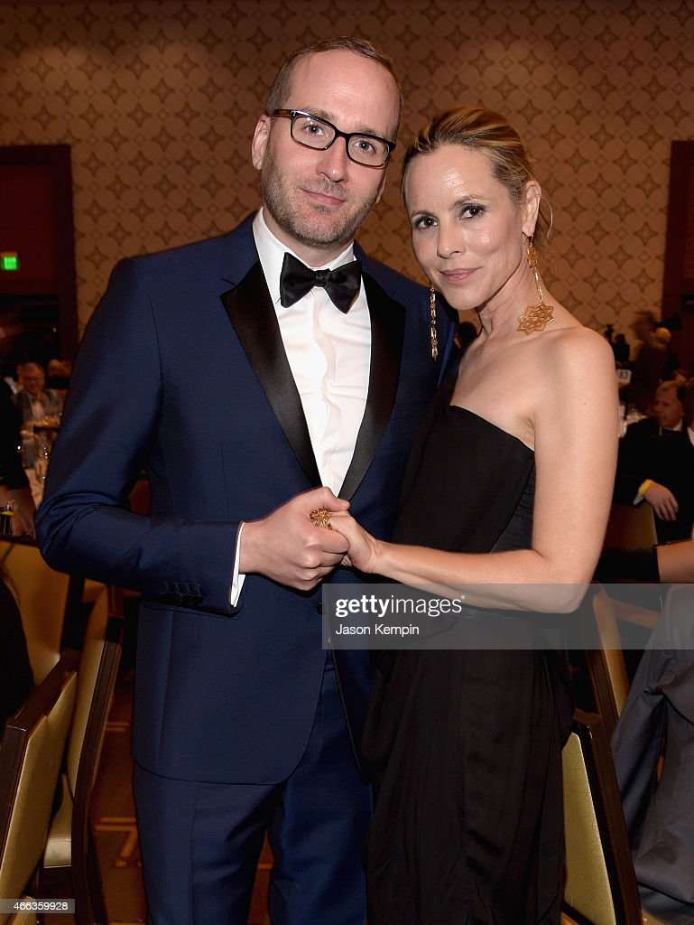 Human Rights Campaign President Chad Griffin (L) and actress Maria Bello attend the Human Rights Campaign Los Angeles Gala 2015 at JW Marriott Los Angeles at L.A. LIVE on March 14, 2015 in Los Angeles, California.