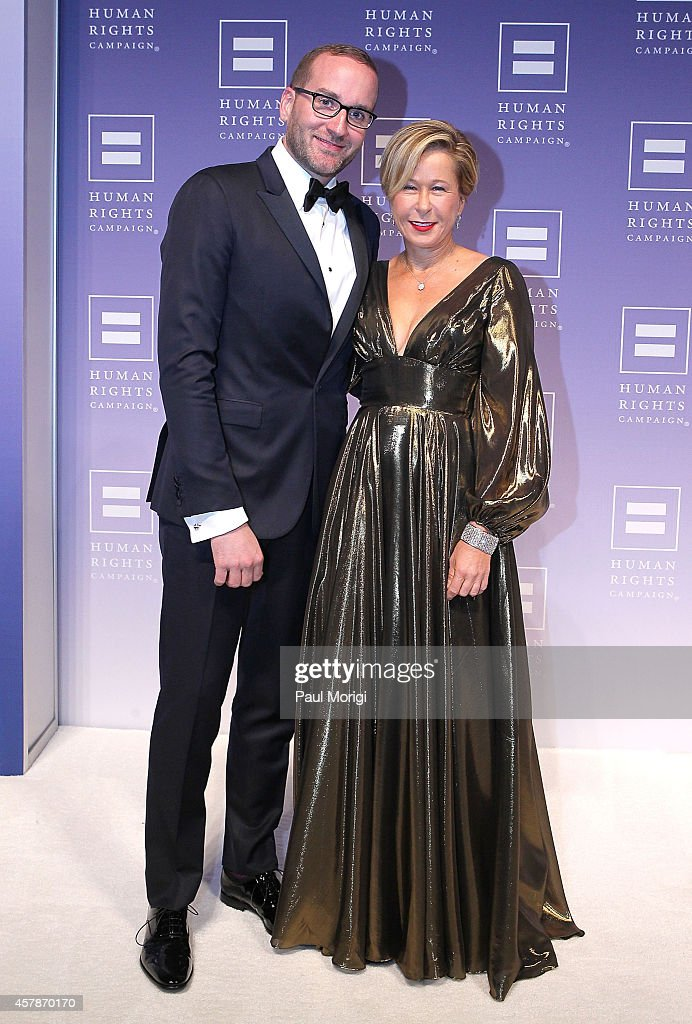 Human Rights Campaign president Chad Griffin and Yeardley Smith arrive at the 18th Annual HRC National Dinner at The Walter E Washington Convention...