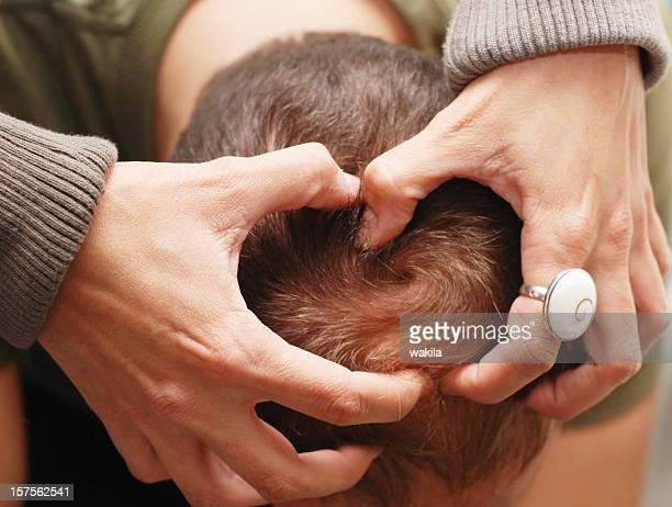 human scalp massaging