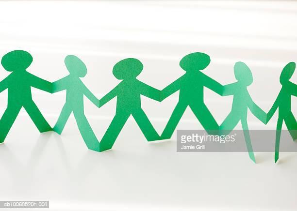 Human shape paper chain