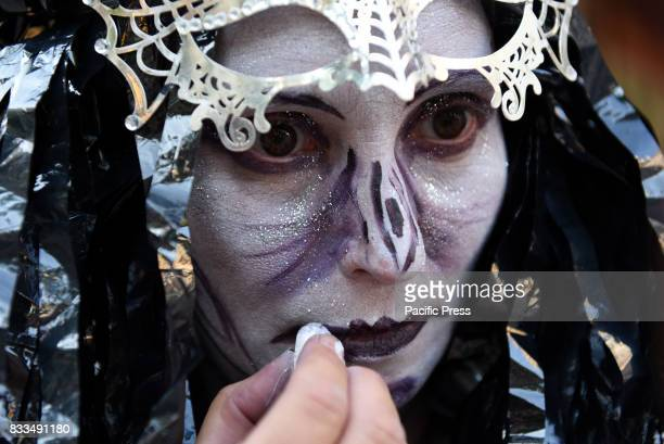A human statue pictured during the XVI International Human Statues Contest in Leganés Madrid