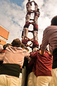Human tower made by Castellers.